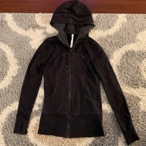 Lululemon Black Zip Up Jacket - Size 8